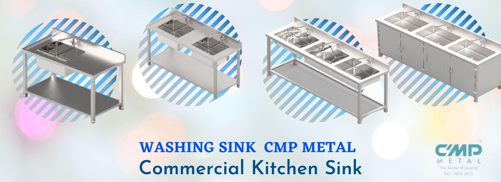 Washing Sink Cmp Metal Commercial Kitchen Sink